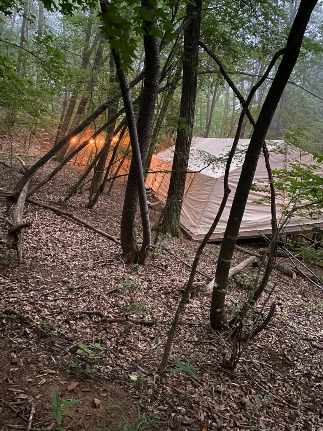 大きなテント